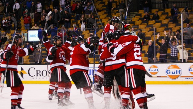 Eagles Embarrassed By Northeastern in Hockey East Semifinals