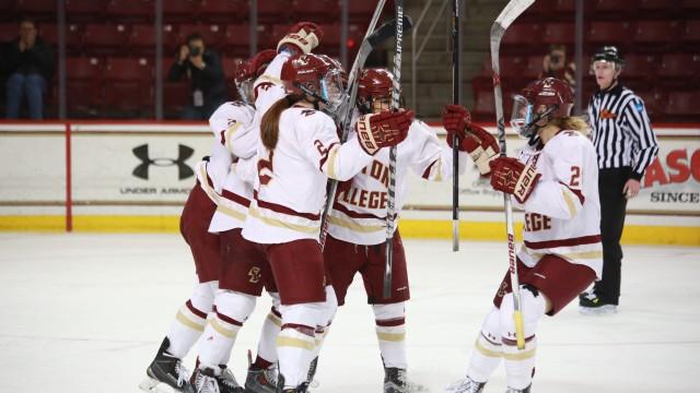 Women's Hockey Takes Second Hockey East Crown