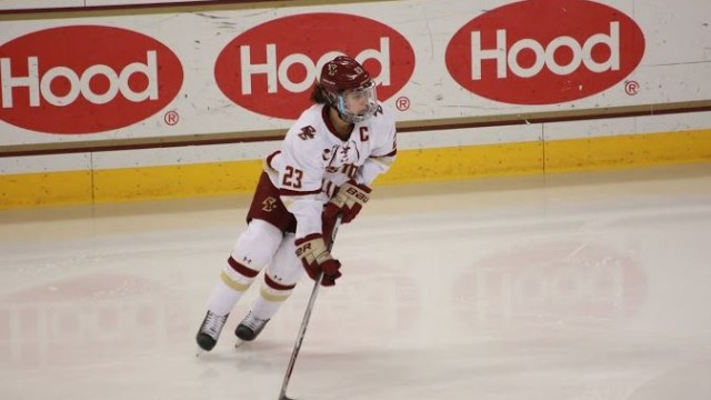 Eagles Advance to Hockey East Finals With Win Over UConn