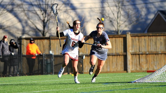Sarah Mannelly's Hat Trick Boosts Eagles Past UMass