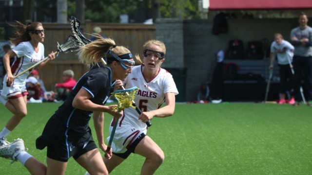 Lacrosse Falls to Johns Hopkins in Seniors' Last Home Game