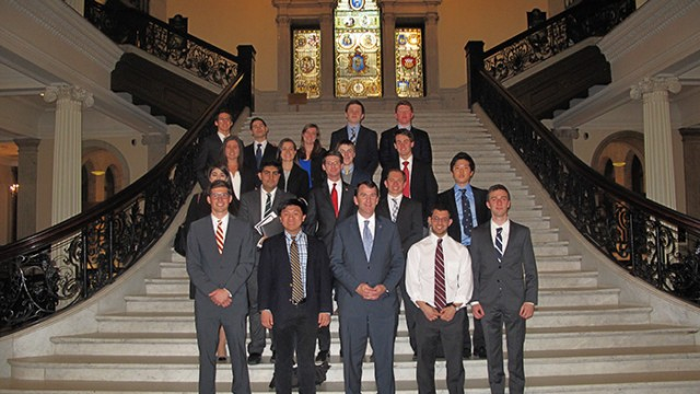 BC Economic Association Presents at the Massachusetts State House