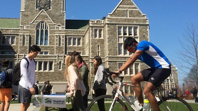 BC Students Raise Awareness for Bike & Build Program