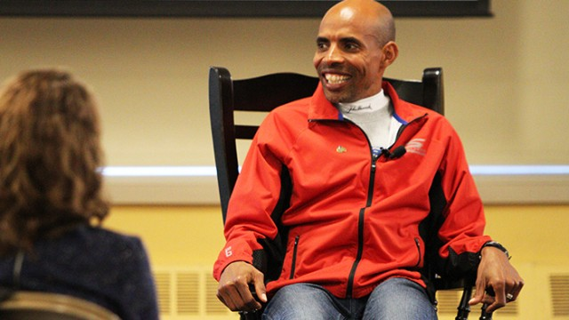 Boston Marathon Winner Discusses Journey from Refugee to Running Icon