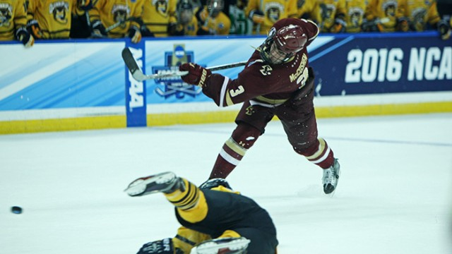 Men's Hockey Falls to Quinnipiac in National Semifinal