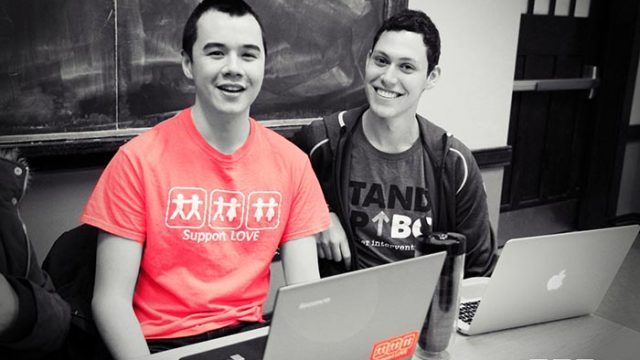 Responding to an Anti-Gay Slur, Students Wear Support Love T-Shirts