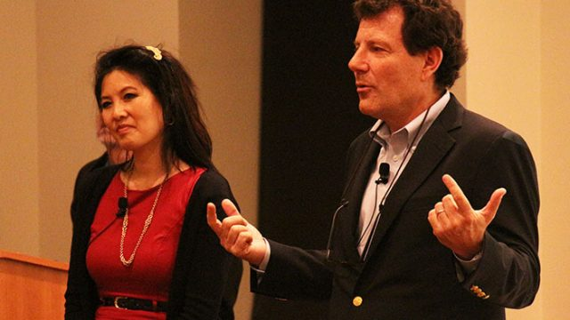 Nicholas Kristof, Sheryl WuDunn Speak of Need for Women Empowerment, Reflect on Progress