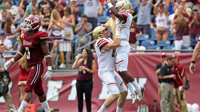 Jeff Smith, Turnovers Lift Football to Victory Over Massachusetts
