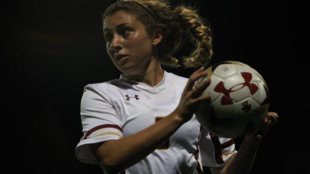 Defense Shows Off, Meehan Scores 50th, in Women's Soccer Victory