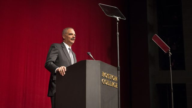 Eric Holder Discusses Voting Rights at the Fall 2016 Clough Colloquium