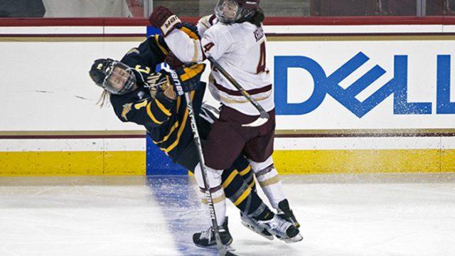 Women's Hockey Ties With No. 3 Quinnipiac