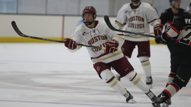 Brown's Hat Trick Leads Men's Hockey Over Wisconsin in Scoring Rampage