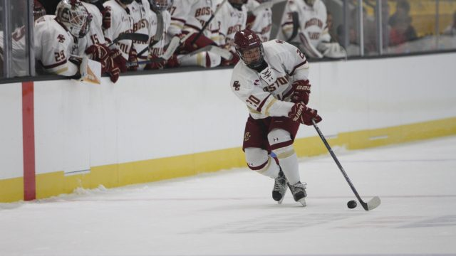 Men's Hockey Can't Connect on Power Play in Wisconsin Opener