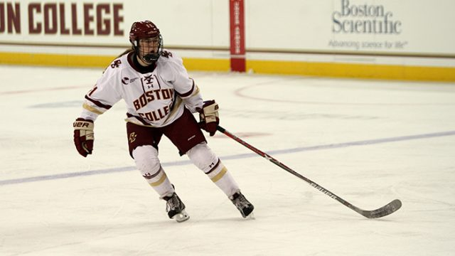 Lonergan, Defensive Corps Lead Women's Hockey in Home Opener