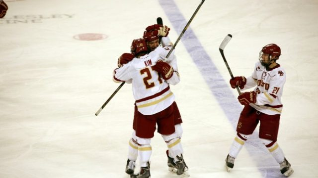 Michael Kim's Late Shorthanded Goal Helps Men's Hockey Defeat Northeastern