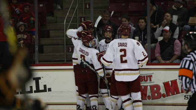 Behind Onslaught of Shots, Men's Hockey Downs Arizona State