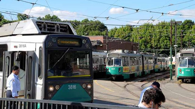 Green Line Derails at Boston College Stop