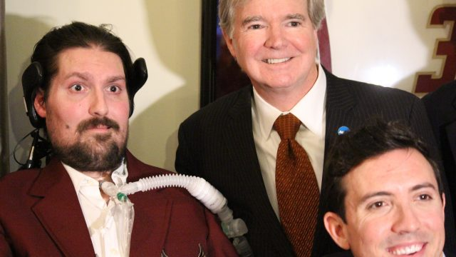 NCAA President Mark Emmert Honors Pete Frates with Inspiration Award