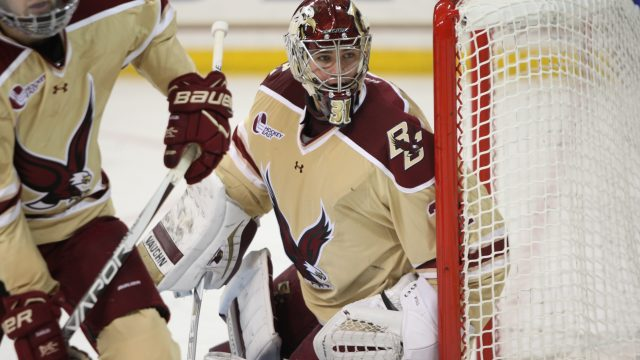 Notre Dame Ends BC's Unbeaten Streak in Hockey East