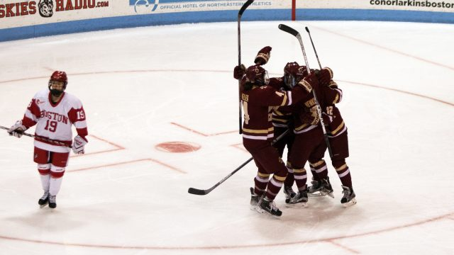 Lonergan Caps Off Third-Period Resurgence in First Round of Beanpot Play