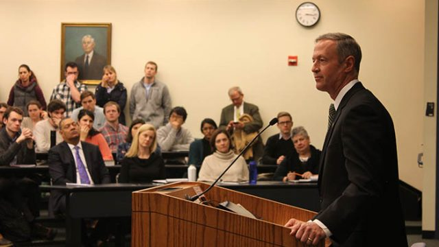 O'Malley's New Melody: The Former Presidential Candidate Is Lecturing for BC Law This Semester
