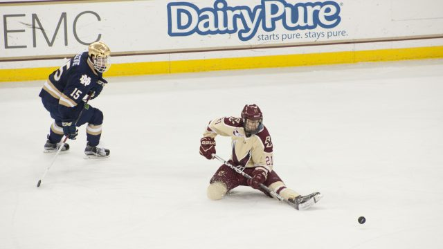 Notebook: Three Different Lines Score in BC's Victory Over the Irish