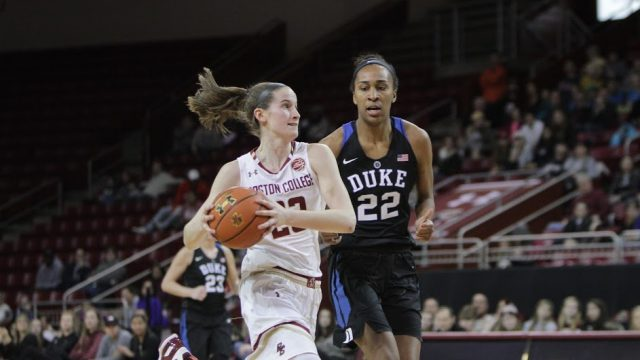 Despite Hughes's Record, Women's Basketball Crushed by Duke