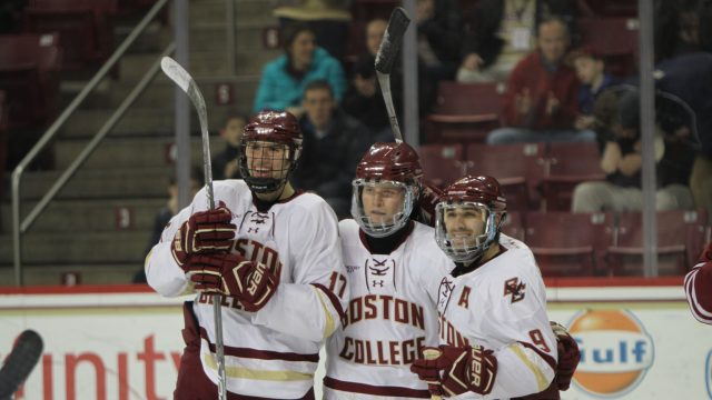 Men's Hockey Shows Off Depth, Cruise to Win Over UMass
