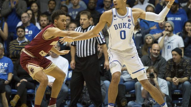 Duke Holds Off Late BC Run, Hands Eagles Second ACC Loss