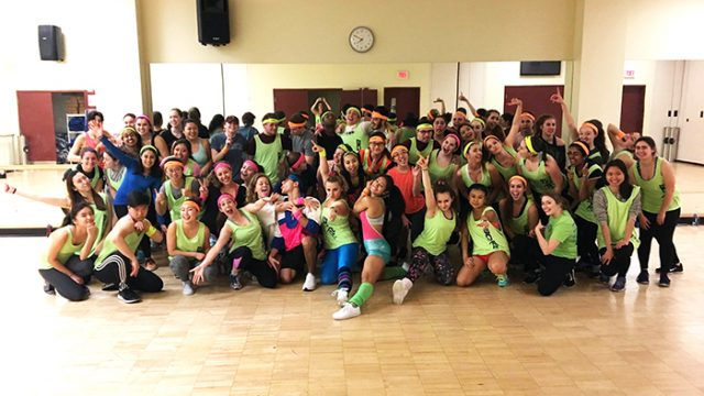 Neon, Aerobics, and Leg Warmers Mark Plex's '80s Day