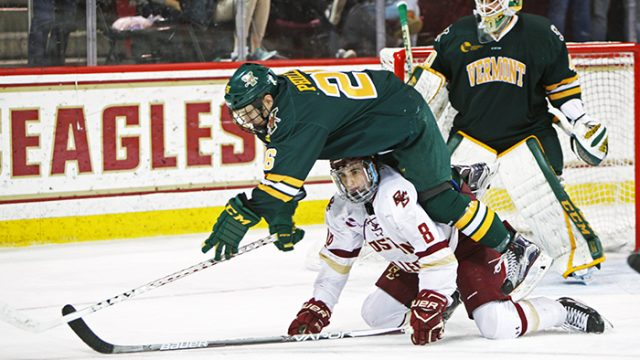 On Senior Night, Men's Hockey Ties With Vermont Again