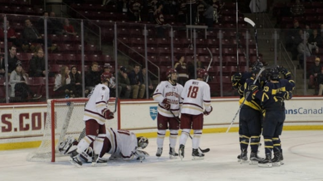 Breakdown in First 10 Minutes Dooms Men's Hockey Against Merrimack