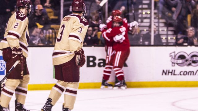 Poor Offense Burns Men's Hockey Against BU in Beanpot Opener