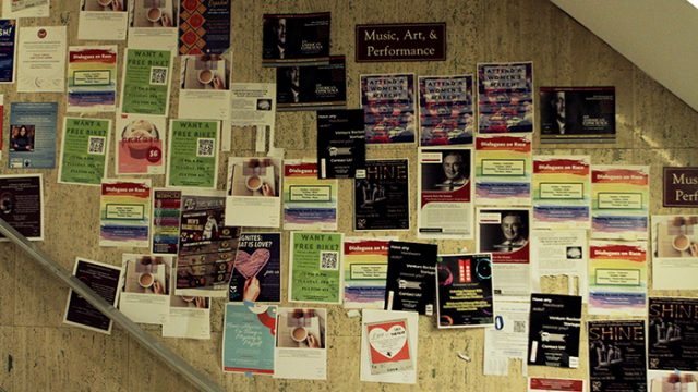 Unapproved Posters Found in Several Academic Buildings