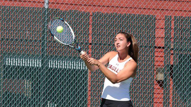 Women's Tennis Makes Program History, but Splits Weekend Matches