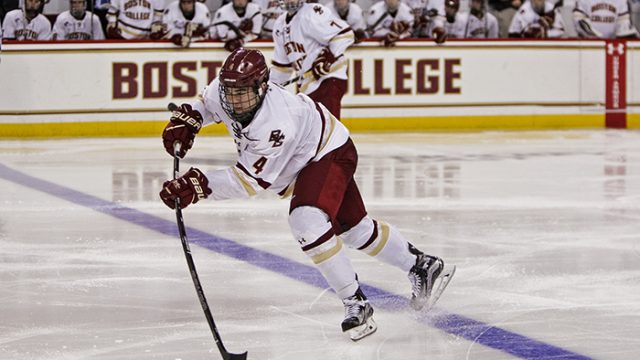 Eagles Blow Out Vermont in Hockey East Quarterfinals Game One