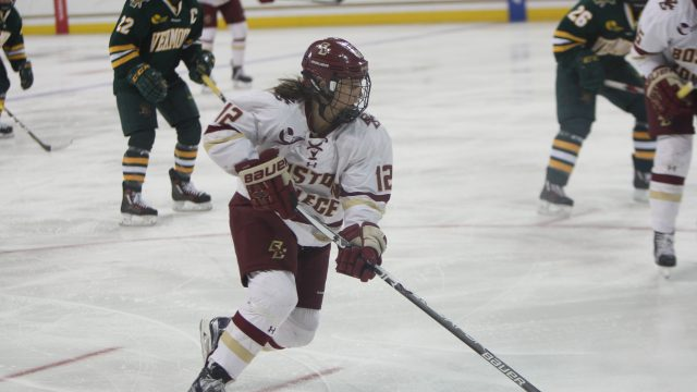 Eagles Edge Vermont in Double Overtime, Book Trip to Hockey East Final