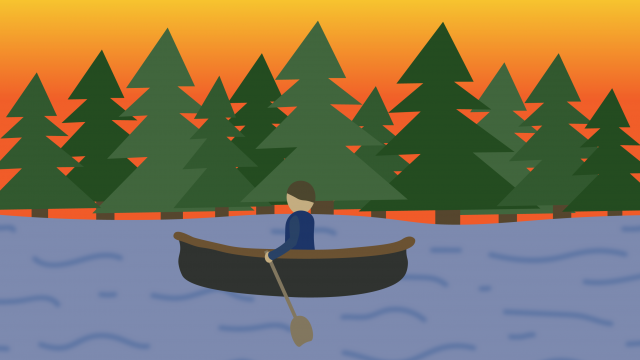 Vague Satisfaction and Peaceful Moments in a Canoe