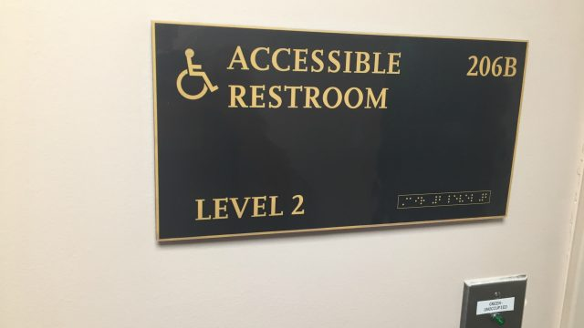 Non-Tactile Braille Signage Found in Bapst Library, University Addresses Issue