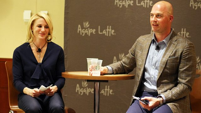 At Agape Latte, Couple Discusses Faith and Love Found at BC