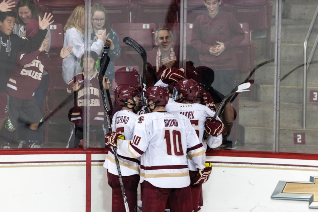 Men's Hockey Claws Back for Season-Opening Tie Against Quinnipiac