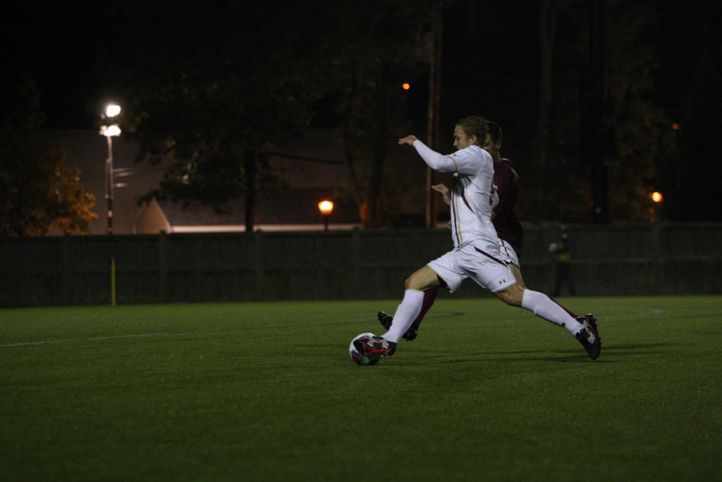 Eagles Rout Rival BU in Road Opener