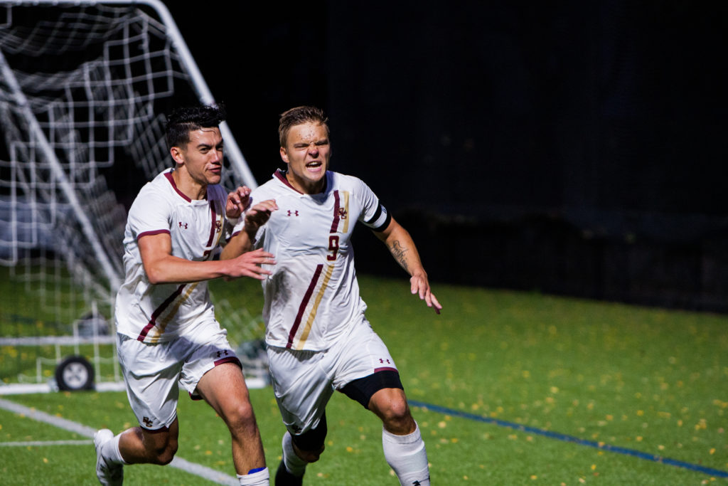 Enstrom's PK in Double Overtime Gives Eagles Win Over Providence