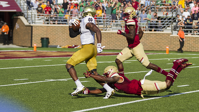 Notebook: Notre Dame Exposes Gaps in BC's Defense in Holy War Blowout