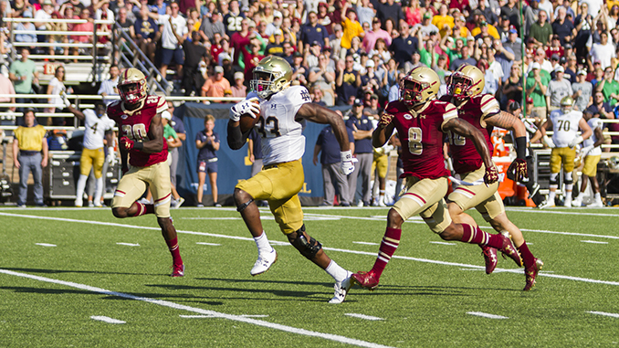 Notre Dame Runs All Over BC in Holy War Blowout