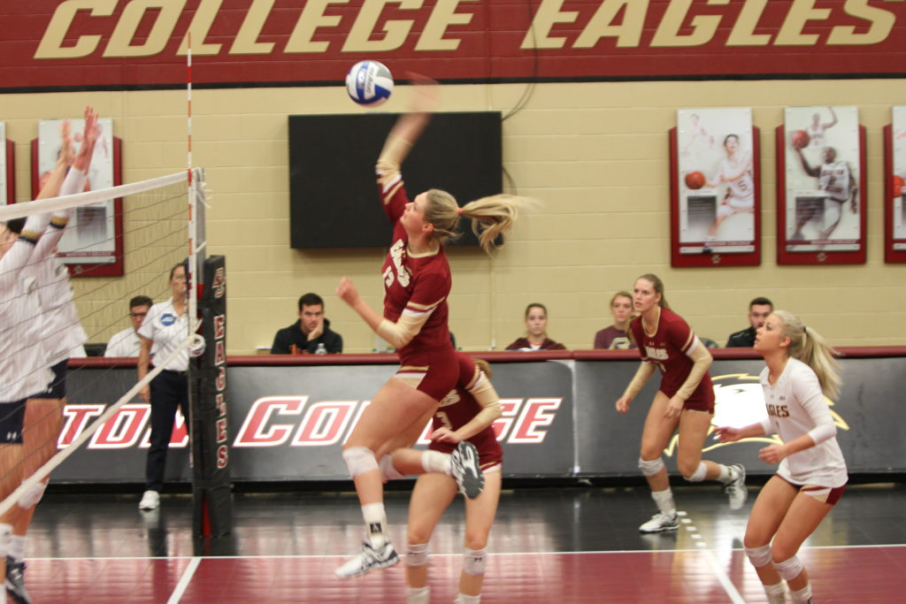 Eagles Fall to Crimson in Five Sets