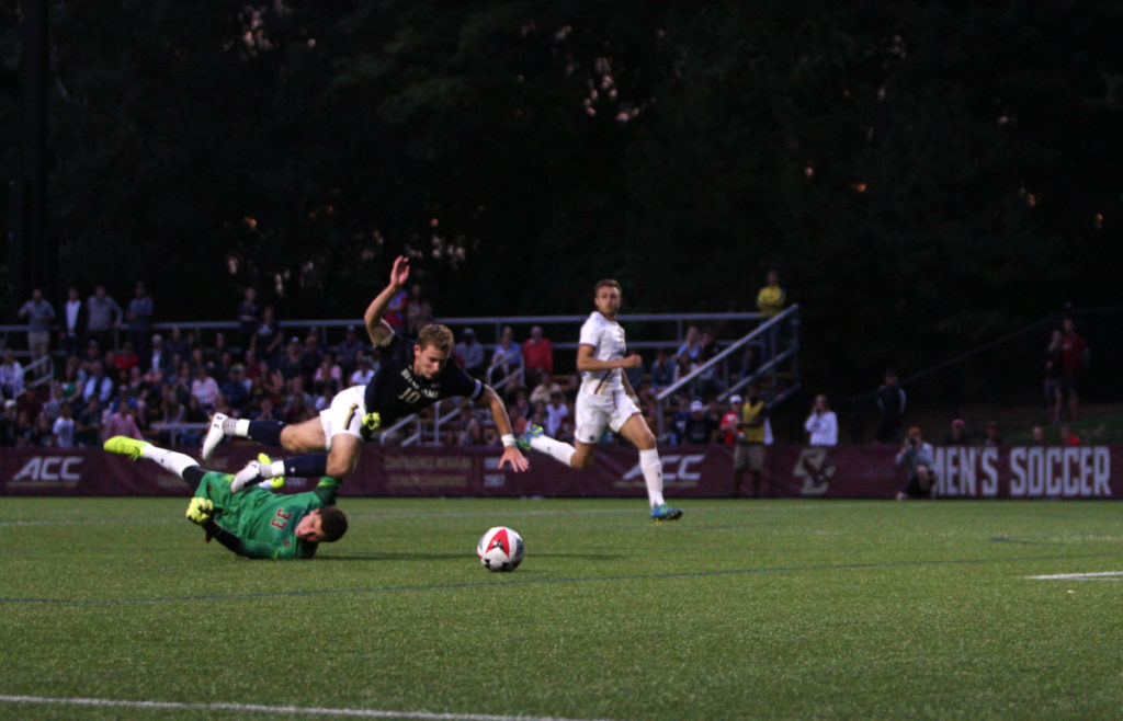 Against No. 6 Notre Dame, Eagles Lose Third Straight Match