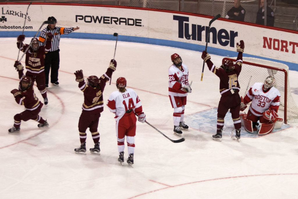 Eagles Hold off BU's Late-Game Comeback