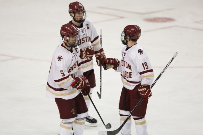 Early Power Play Goals Doom Eagles in St. Cloud State Loss