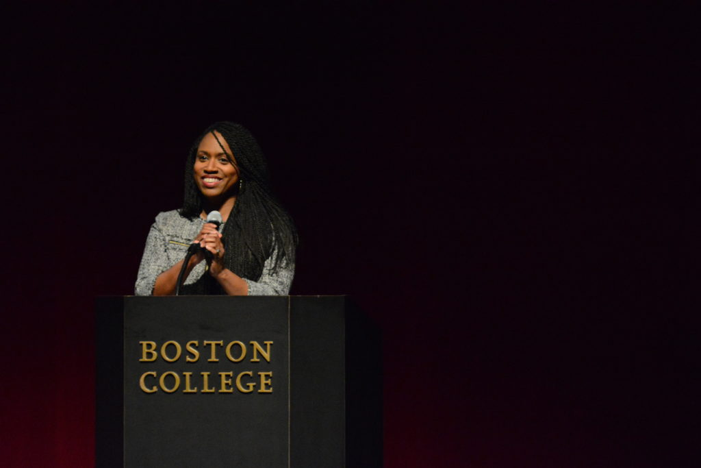 Boston City Councilor Ayanna Pressley Discusses Career at Women's Summit